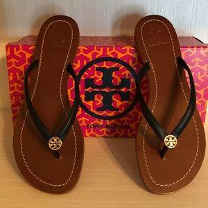 New- Tory Burch Terra Black Sandals